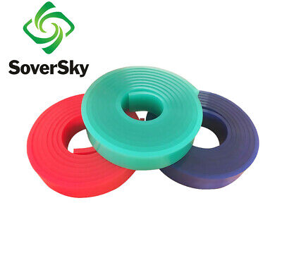 "75 Duro Durometer 12 FT / 144"" silk screen printing squeegee blade Roll- Green"