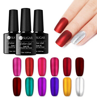 UR SUGAR 7.5ml Mirror Titanium Soak Off UV Gel Polish Red Purple Nail Art Gel