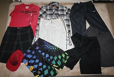 Bulk Lot Boys Size 12 Clothes Billabong Board Shorts Tops Fox Cap ++