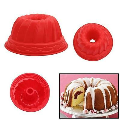 Swirl Ring Jelly Silicone Pastry Cake Mould Mold Baking Tins Pans Tools DS