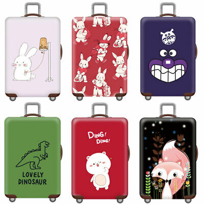 "18-32"" Printed Travel Luggage Suitcase Cover Protector Elastic Dustproof Cover"