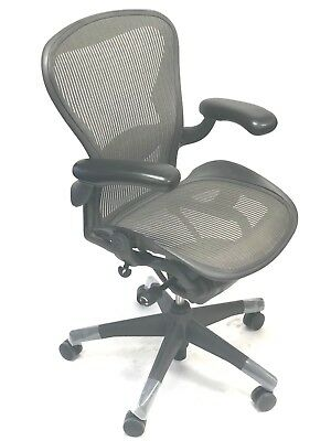 Aeron Fully-Loaded Lumbar Support Size B (3D13) Silver  By: Herman Miller