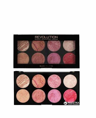 Makeup Revolution Blush Queen Blusher Palette 8 Colors Shades Contouring Kit 6g
