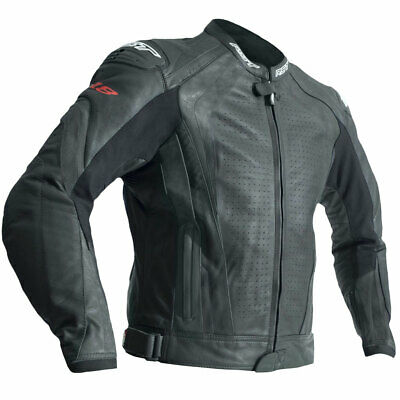 Make Us An Offer On: RST R-18 CE Leather Motorcycle Motorbike Jacket Black - 42