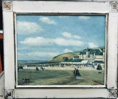 VERY PRETTY FRENCH IMPRESSIONIST OIL PAINTING - MANNER OF EUGENE BOUDIN signed.