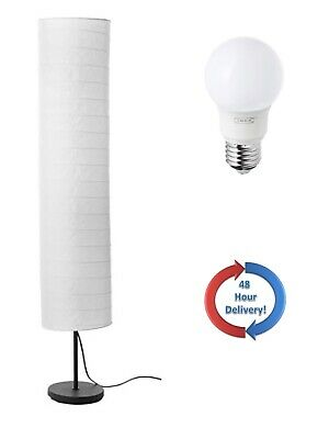 finest selection c3753 7520b IKEA HOLMO FLOOR Lamp With Bulb Soft Smooth Relaxing Living Room Standing  light