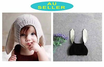 Infant Baby Toddler Girl Boy Winter Warm Knitting Rabbit Ear Hat Ski Beanie Cap
