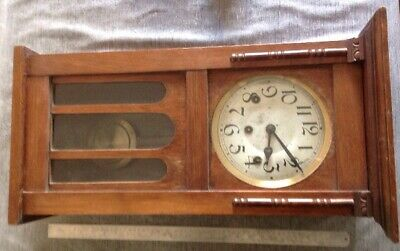 Antique German Westminster Chiming Wall Clock 3 Train To Restore Or Spare Parts