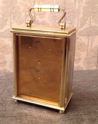 Carriage Clock Case Solid Quality Brass Three Window Overall 150x85x57mm