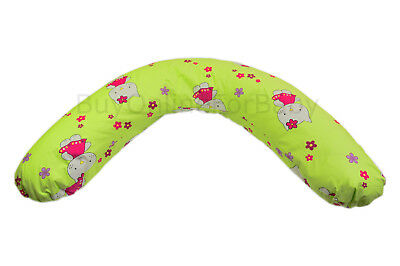 Baby Mum Breast Feeding Pillow Support 100% Cotton Cover Nursing Maternity Green