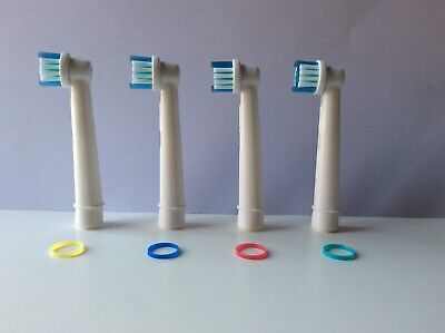 ORAL B AND BRAUN COMPATIBLE TOOTHBRUSH HEADS ** Amazing Quality. 2 Packs Of 4 **