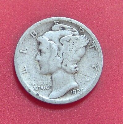 1925 S Mercury Dime Silver Ten Cent Piece **free Shipping** A571