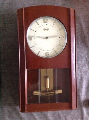 Vintage Equity Battery Wall Clock Electric Pendulum For Collecting / Repair
