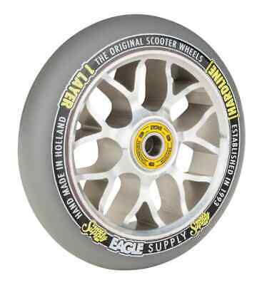 Eagle Sport Hardline 1-Layer X6 Sewercaps Scooter Wheel - Grey/Silver 110mm