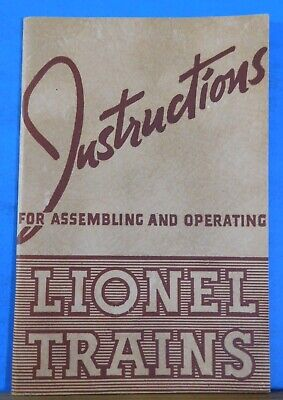 Instructions for Assembling and Operating Lionel Trains Form 926-5 1940
