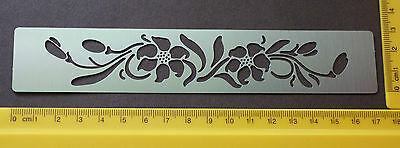 Border/Metal/Stencil/Oriental/Floral/Lily/Leaf/emboss/Stainless/Steel/DEFECT