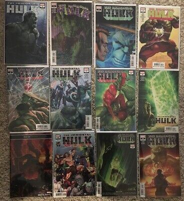 Immortal Hulk #1(x2),2(3rd Print),3,6,7 & 9-14 NM 1st App One Below Marvel 2018