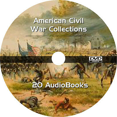 * AMERICAN CIVIL WAR BOOKS COLLECTION  * 20 AUDIOBOOKS on 1 DVD MP3 *