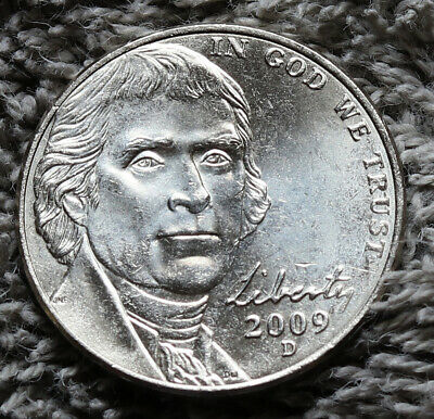2009 D JEFFERSON NICKEL ROLL  /</<  UNCIRCULATED   TAIL//TAIL  ROLL  />/>