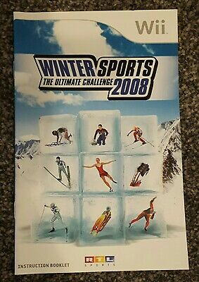 Winter Sports The Ultimate Challenge 2008 Instruction Manual Nintendo Wii Retro