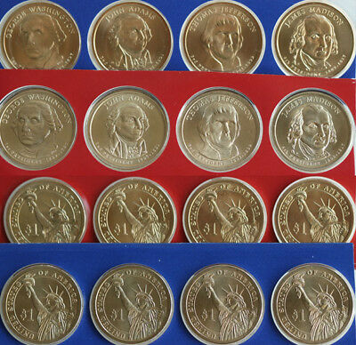 2007 Presidential Dollar UNC Coins 8 Satin P and D from Mint Set Blister Pack $1