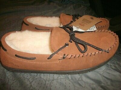 3dfd37d7969 Staheekum Men s Size 10 Country Wheat Leather Sheepskin Moccasins Loafers  (B219)