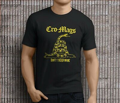 be5dd7b3451 NEW POPULAR CRO mags dont tread on me Rock band Men's Black T-Shirts ...