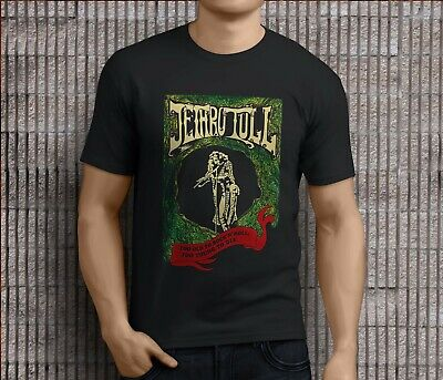 8fa04a5e4fc91e New Jethro Tull Rock Band Logo Black T-Shirt Size S-3XL Men's Clothing