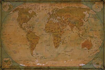 Paper with front sheet laminati... Giant World MegaMap Large Wall Map Poster