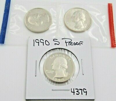 1990 P D & S Washington Quarter Set - PD Mint Cello / S Proof (4379)