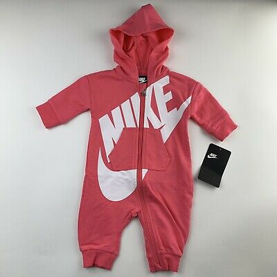 BABY GIRLS: Nike 1-Piece Coverall, Pink - 9 Months 5NB54-A5K