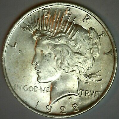 1923 Silver Peace One Dollar Brilliant UNCIRCULATED Silver $1 Coin
