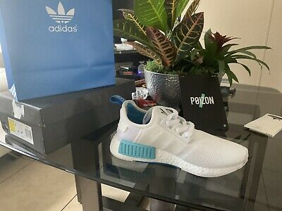 d2dced300 MEN S ADIDAS NMD R1 J reflective White  Blue Boost S79166 - Mens Size 8 -   100.00