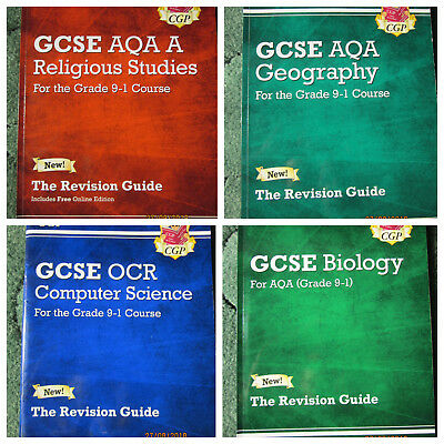 CGP GCSE AQA Revision Guides For Grade 9-1 Course in Geography, Biology, RS, Com