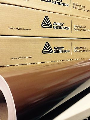 24in x 150ft (2ft x 50yd) Avery HP700 Chocolate Brown Cut Vinyl Roll