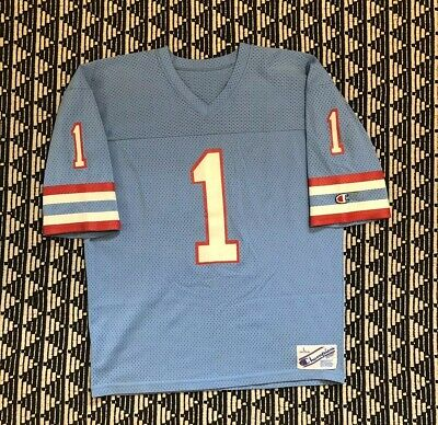 37df2733 Vintage Houston Oilers Warren Moon Champion Football Jersey NFL Large 80s  90s