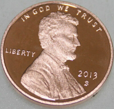 2013-S Lincoln Shield Cent Proof Red Penny