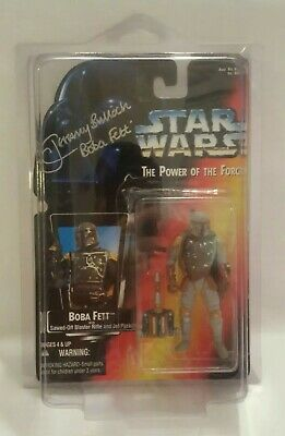 Star Wars Boba Fett Signed Jeremy Bulloch Red Power of the Force POTF Autograph