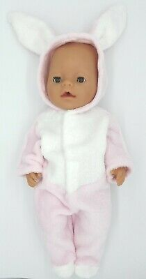 Doll Clothes - Easter Bunny Pink Jumpsuit for Baby Born / Baby Born Sister