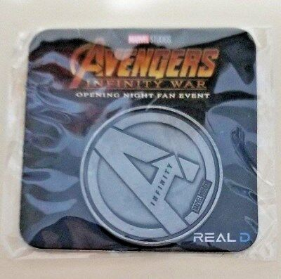 Avengers Infinity War (2018) Promo Coin (SILVER) Coins Fan Event