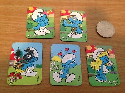 Smurf collector magnets x5