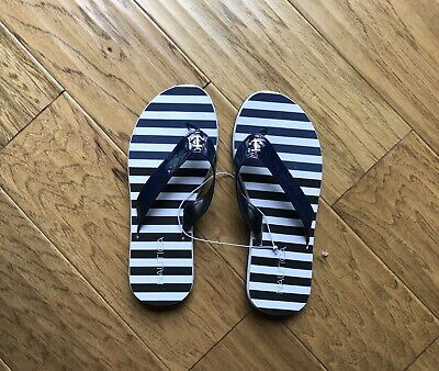 1a4131a902e NAUTICA FOLLY Style Women s Flip Flop Navy Anchor Sandals Size 6 NEW ...