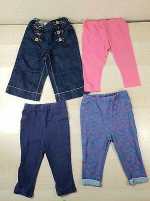 4x Baby Girls 9-12 Months Leggings/Jeans George Matalan Mothercare Next Floral