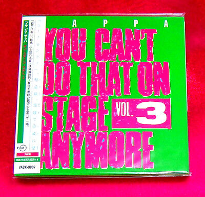 Frank Zappa You Can't Do That On Stage Anymore Vol.3 MINI LP CD X 2 JAPAN