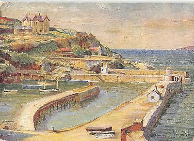 BR67505 the harbour  newquay postcard painting  uk 14x9cm