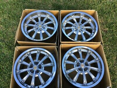 20 Inch Retired Chrome CS66 Shelby Mustang Rims - Staggered Set: Fx9 & Rx10