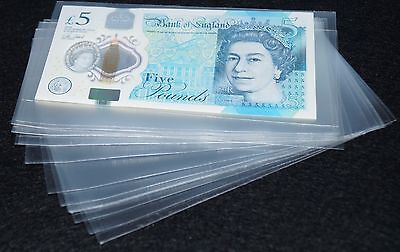 20 SMALL  BANKNOTE SLEEVES 70 mm X 140 mm