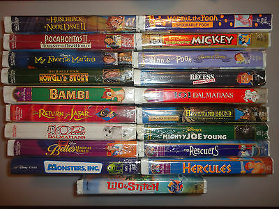BRAND New DISNEY VHS Movies  (Pick & add to cart) FLAT Shipping $3.99 !!