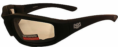 Motorcycle Biker Goggle Padded Clear Daytona Glasses sunglasses + Free pouch