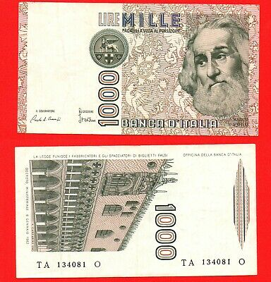 Italy 1982 1000 lire banknote